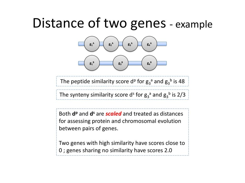 Distance of two genes - example