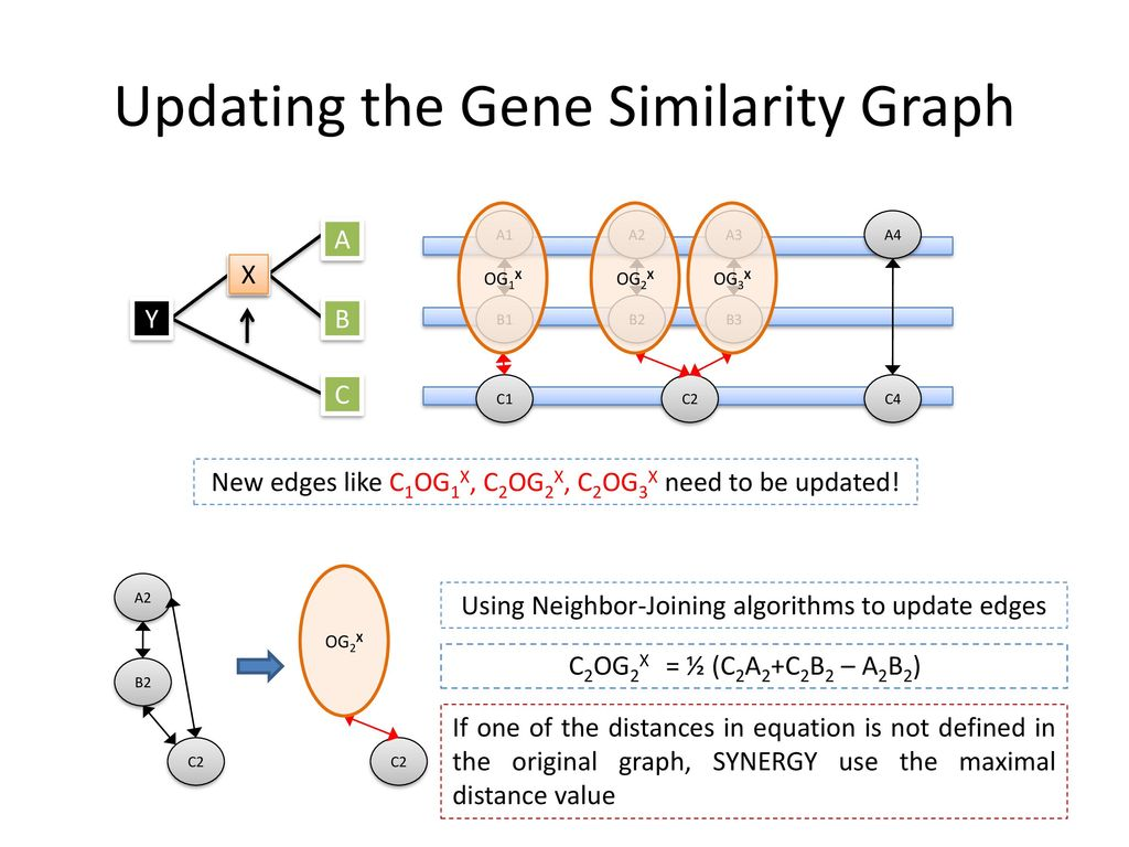 Updating the Gene Similarity Graph