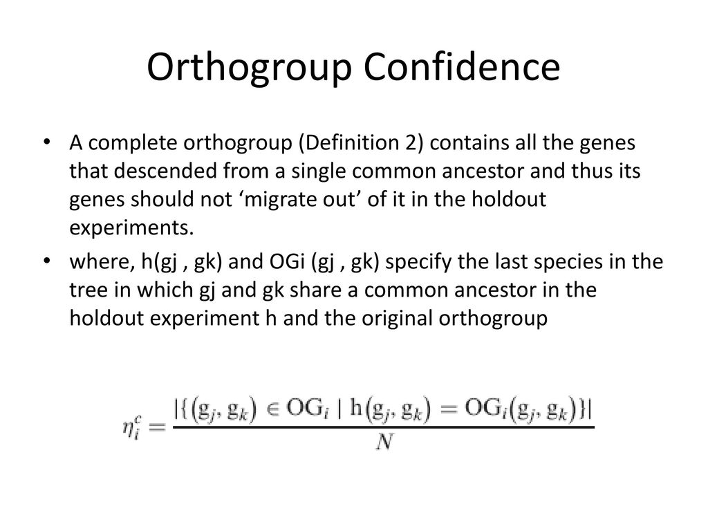 Orthogroup Confidence