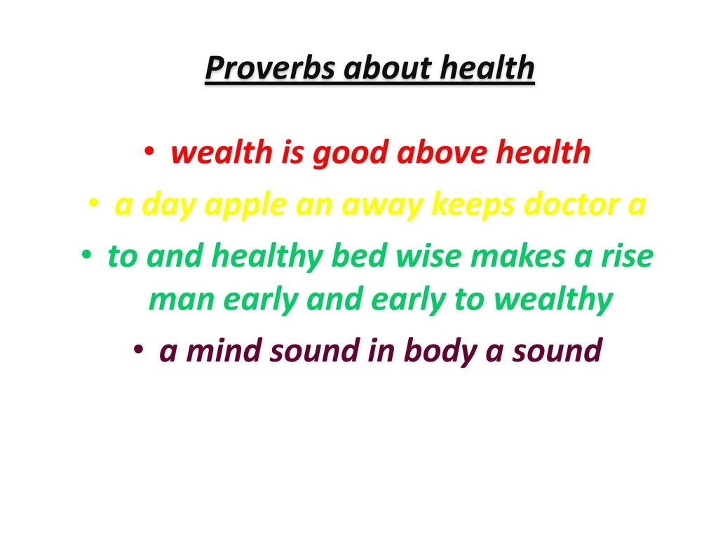 health is wealth proverb