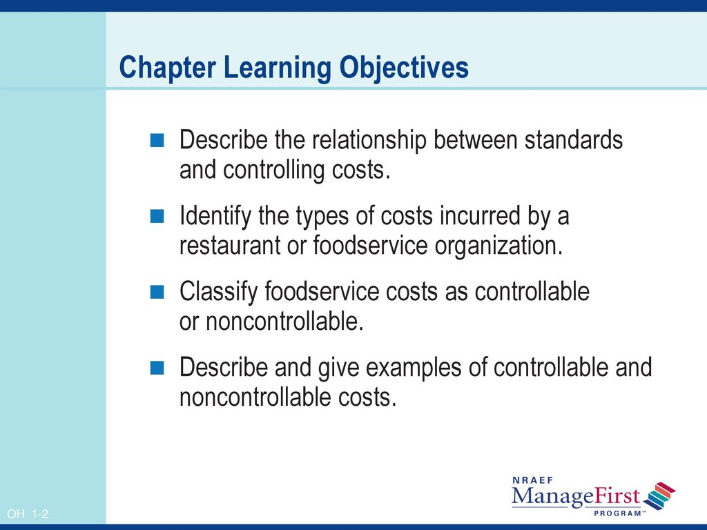 2 Chapter Learning Objectives