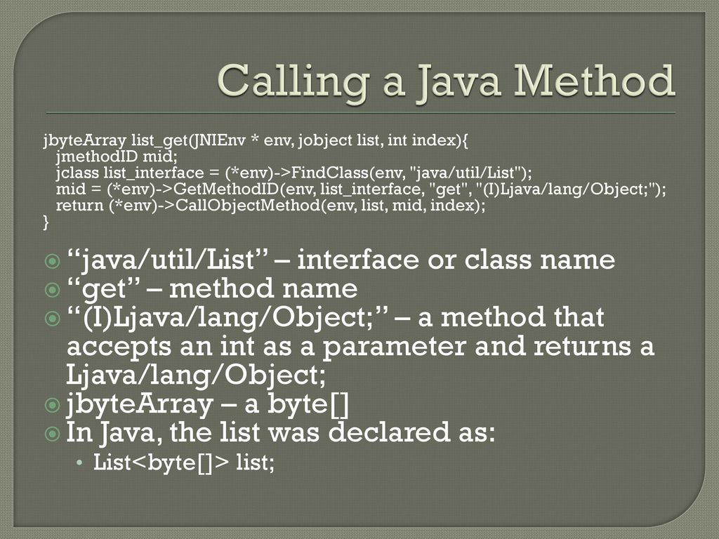 Java Native Interface (JNI) - ppt download