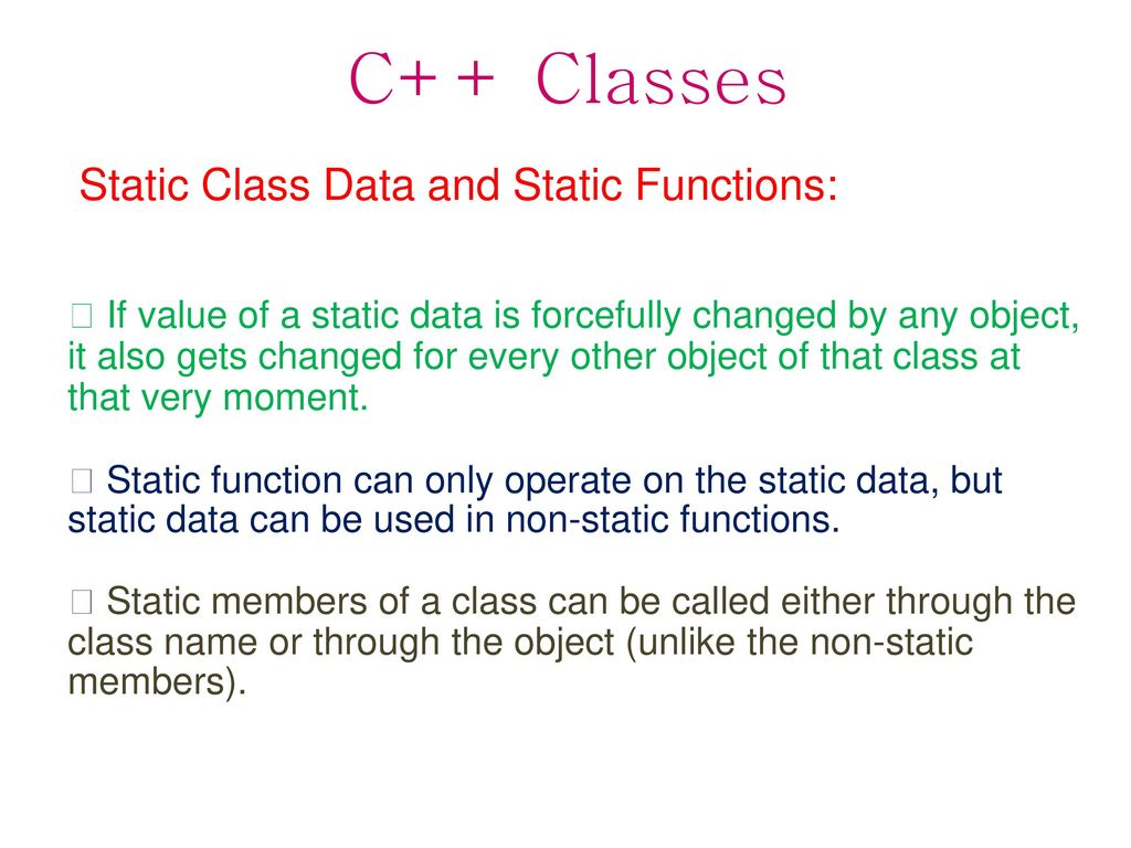 Static Function In C