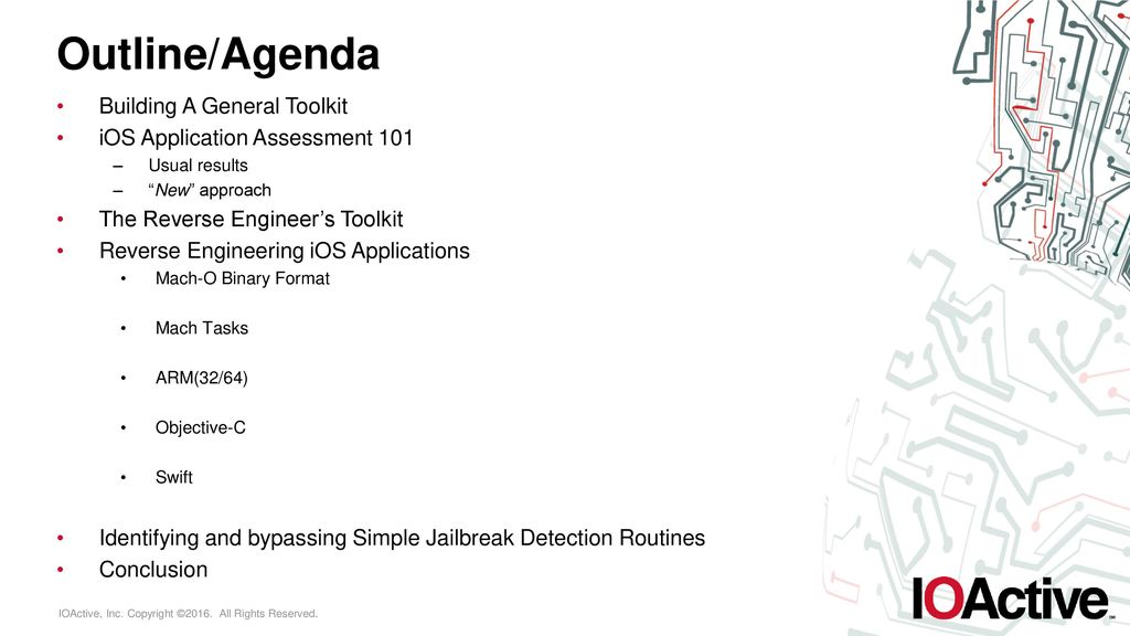 Beyond The 'Cript: Practical iOS Reverse Engineering - ppt