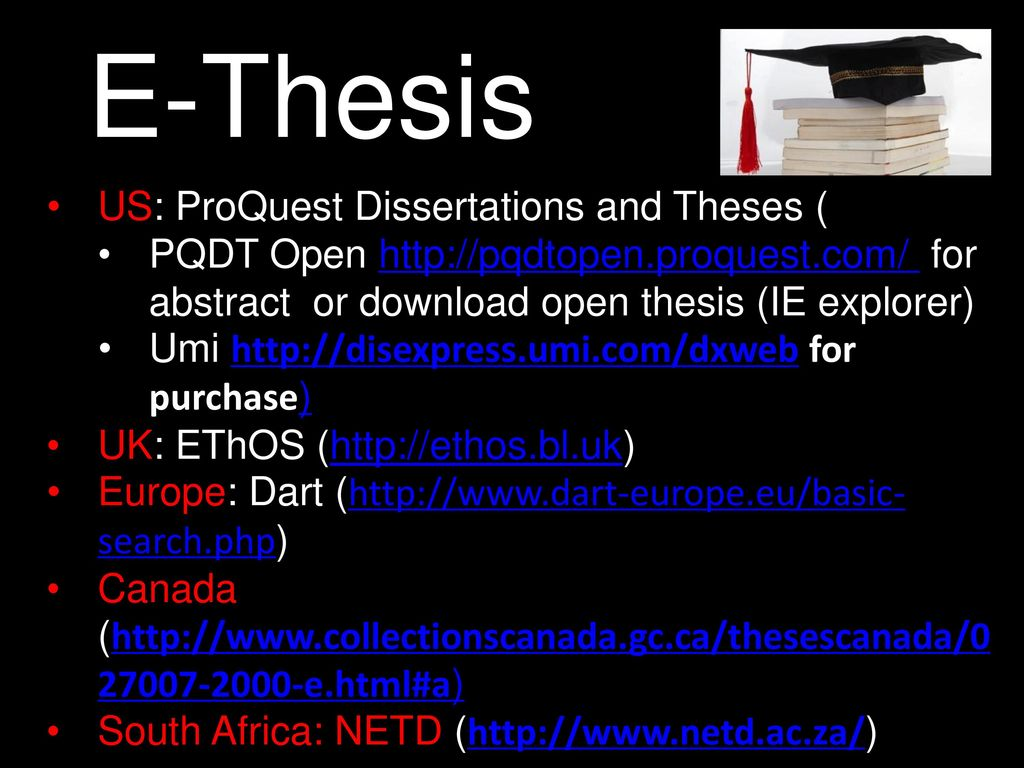proquest dissertation and thesis open Theses and dissertations, free to find, free to use a project to create a national collaborative distributed database of digitised theses produced at australian universities buy history paper proquest dissertation and thesis mba assignment help online uc personal statement 2013.