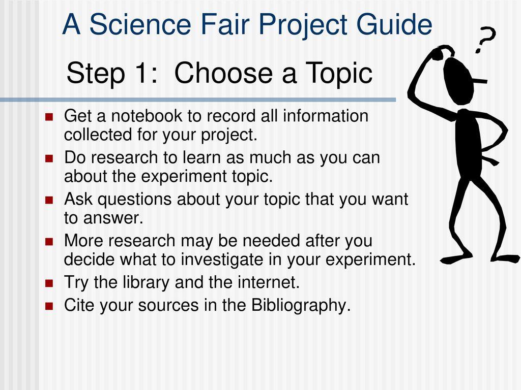 science fair sources