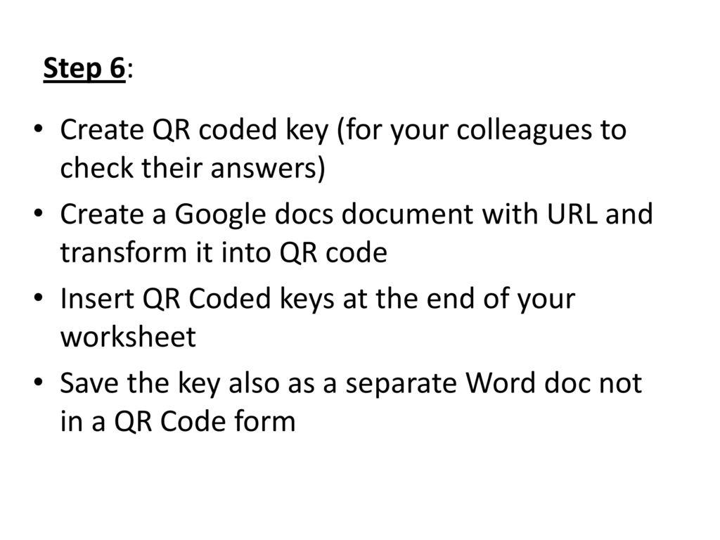 Qr Code Worksheets Ppt Download