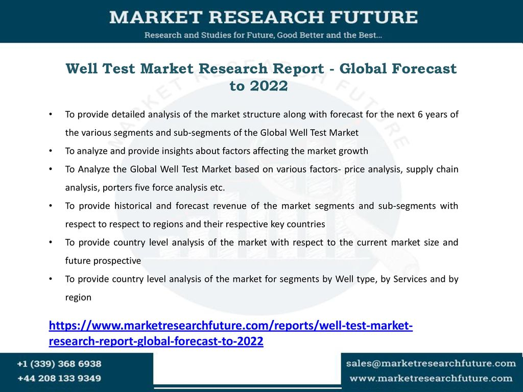 well test market research report global forecast to ppt download
