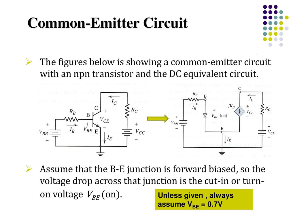 Recall Lecture 10 Introduction To Bjt 3 Modes Of Operation Ppt Diagram B A Shows An Npn Transistor Which Is Often Used As 5 Common Emitter Circuit