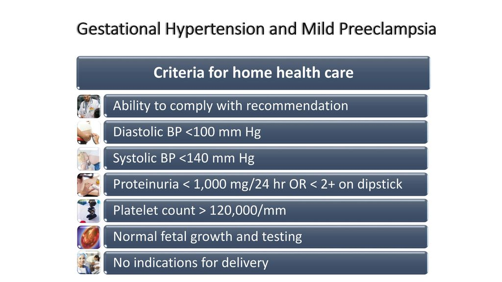 Gestational Hypertension and Mild Preeclampsia