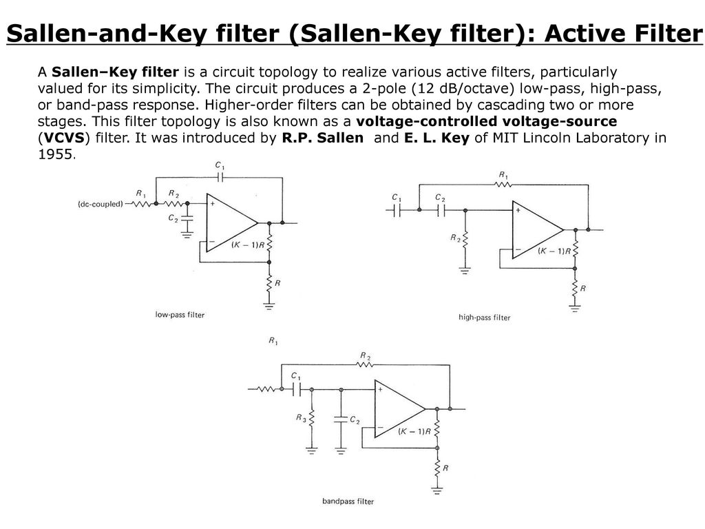 Chapter 6 Active Filters Oscillators Ppt Download Low Pass Filter Circuit Diagram Sallen And Key