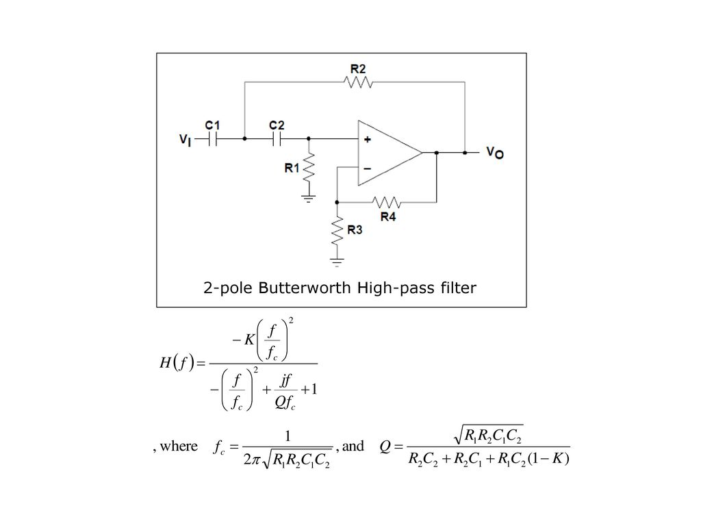 Chapter 6 Active Filters Oscillators Ppt Download High Pass Filter Diagram 20 2 Pole Butterworth