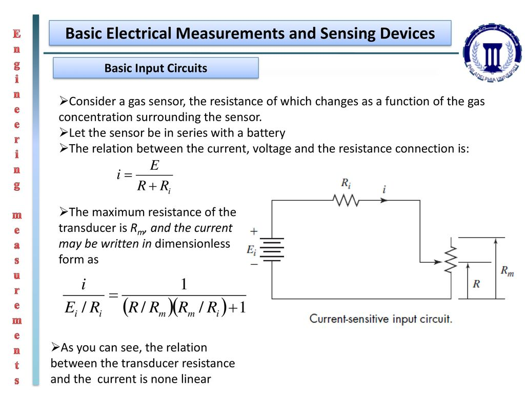 Engineering Measurements Ppt Download Connected To The Potentiometric Circuit As A Null Detector Switch 12 Basic Electrical