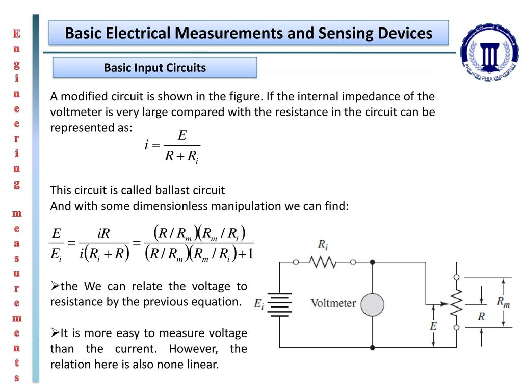 Engineering Measurements Ppt Download More Simple Electrical Circuits And Devices Are Basic Sensing