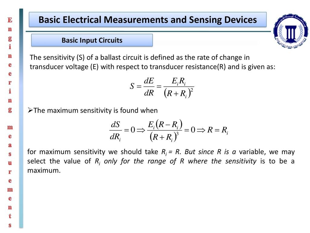 Engineering Measurements Ppt Download For Mech Students Electronic Choke Circuit Simple Electronics Basic Electrical And Sensing Devices