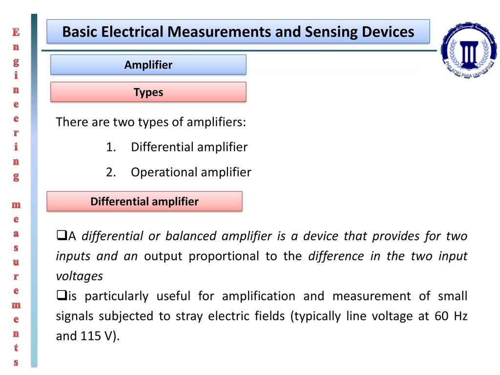 Engineering Measurements Ppt Download Operational Amplifier Basics Electrical Basic And Sensing Devices