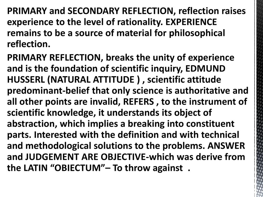 primary and secondary reflection examples