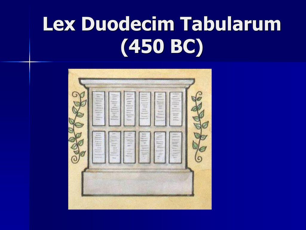 LEX DUODECIM TABULARUM PDF