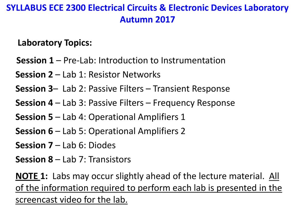 ECE 2300 Electronics Circuits and - ppt download