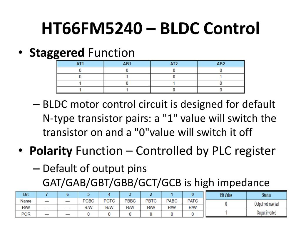 Study Report For Brushless Dc Bldc Motors Ppt Download Permanent Magnet Motor Control Circuit Diagram Ht66fm5240 Staggered Function