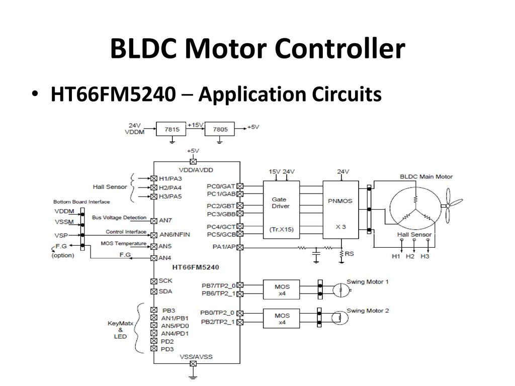 Brushless Dc Motor Sd Control Circuit Design Wiring Diagram And Pwm Speed Controller Using Ic556 Homemade 7 Bldc Ht66fm5240 Application Circuits