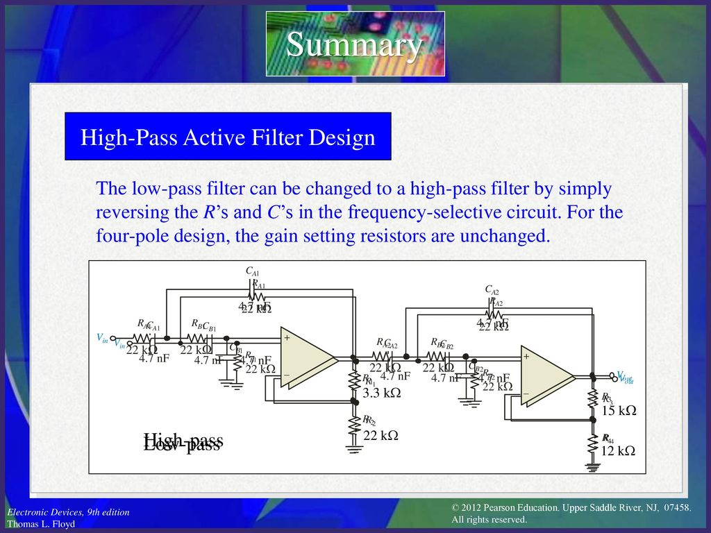 Electronic Devices Ninth Edition Floyd Chapter Ppt Download L Filter Circuit Diagram High Pass Active Design