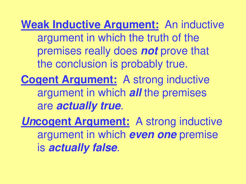 What is a strong inductive argument? Youtube.