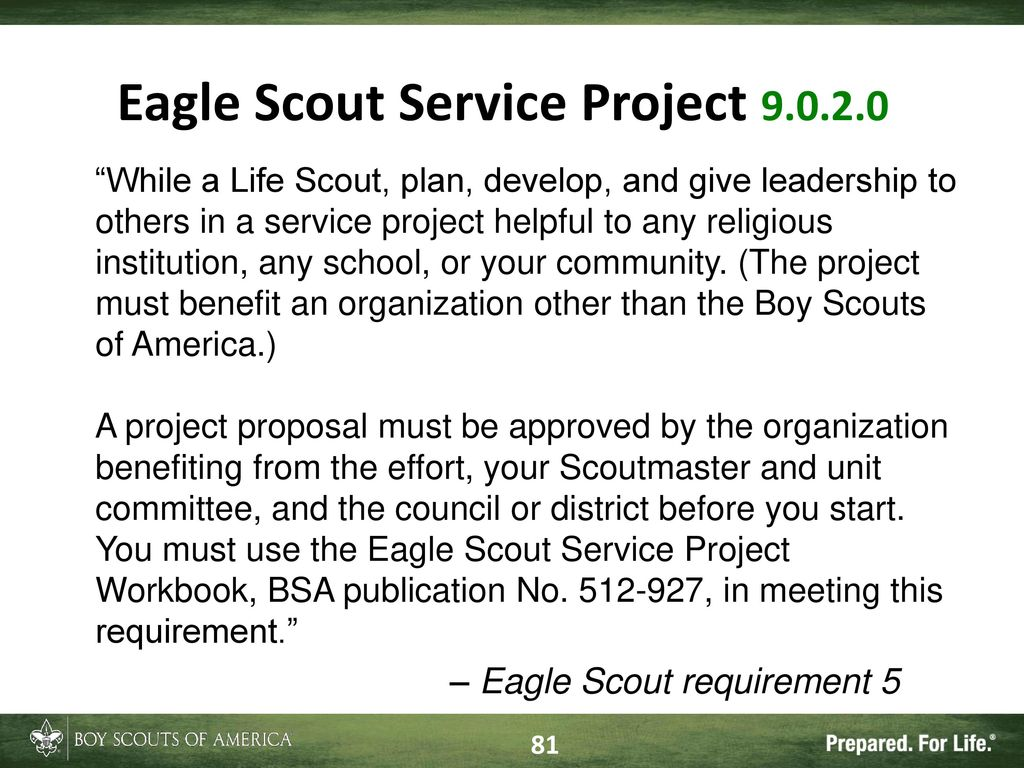 Workbooks eagle scout service project workbook : TODAY'S ADVANCEMENT National Advancement Program Team Expiration ...
