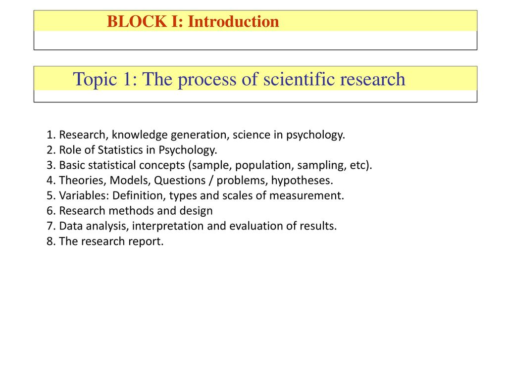 Scientific knowledge and methods of scientific research 38