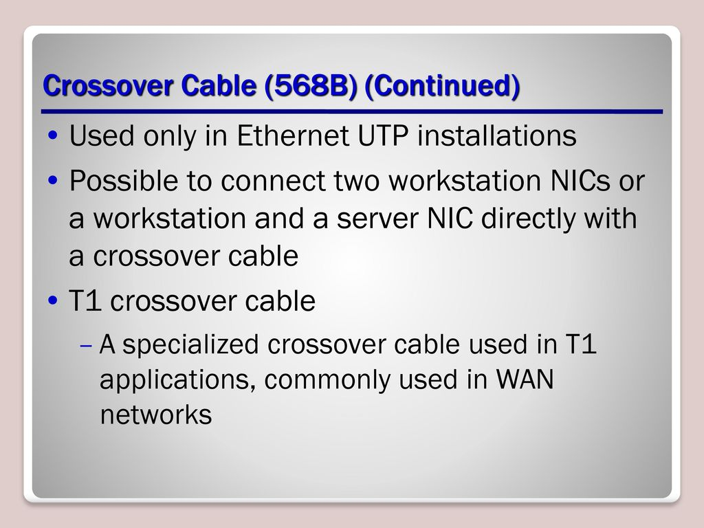Media Lesson Ppt Download Ether Crossover Cable Diagram Further Also Cat 5 19 568b Continued Used Only In Ethernet