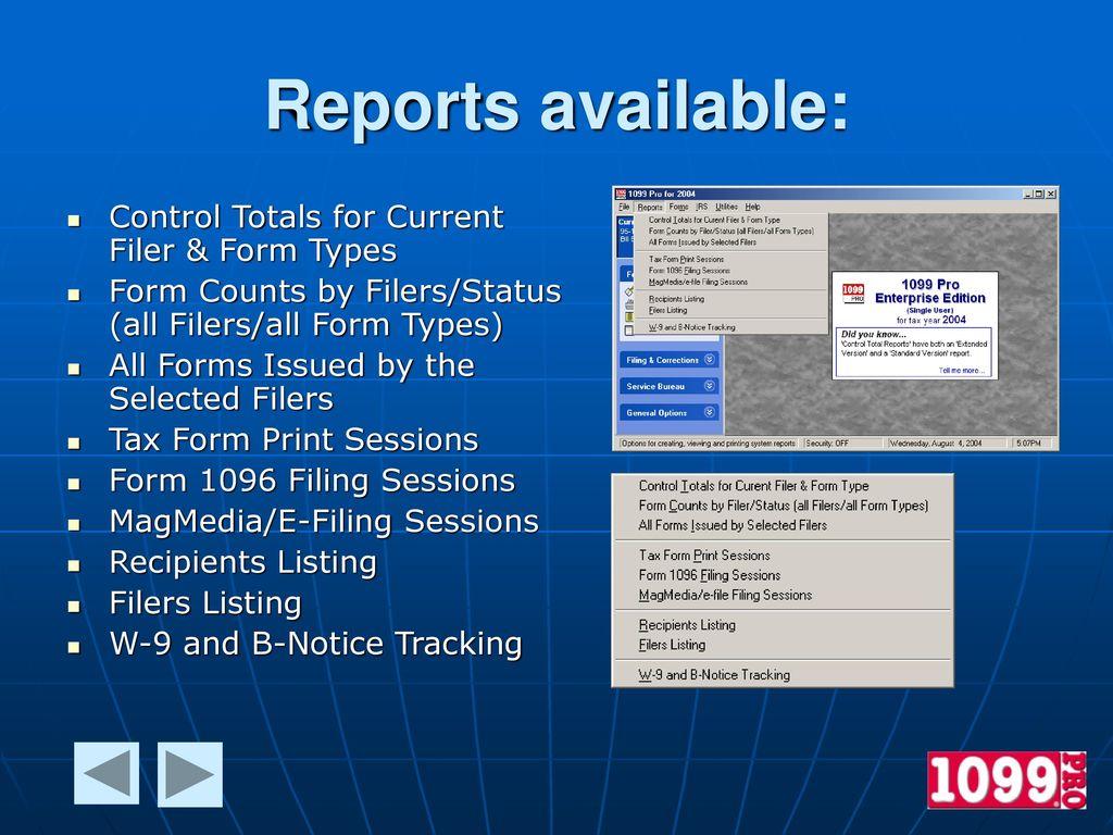 1099 Pro Enterprise Edition Features Ppt Download