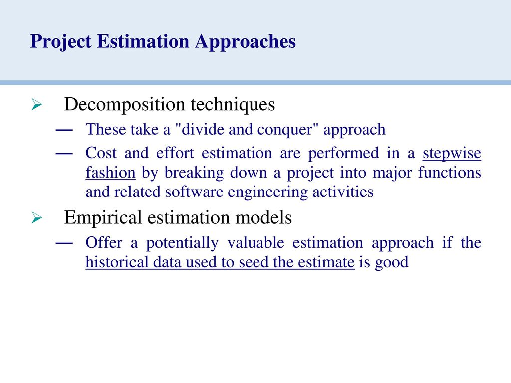 Chapter-7 ESTIMATION FOR SOFTWARE PROJECTS - ppt download