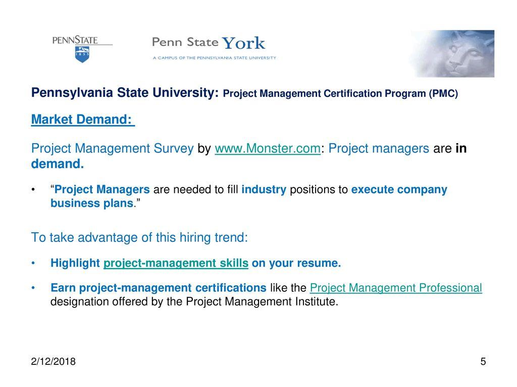 Project Management Certification Pmc Program Ppt Download