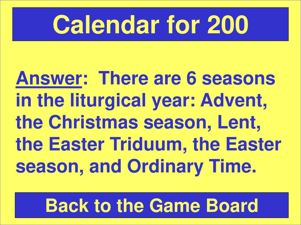 Chapter 6 - The Liturgical Year  - ppt download