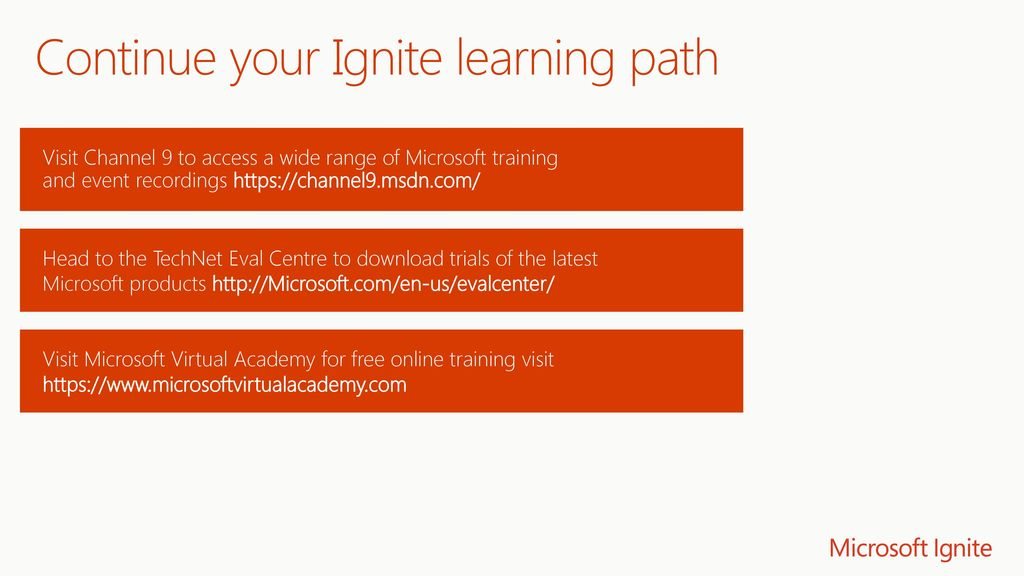 Continue your Ignite learning path