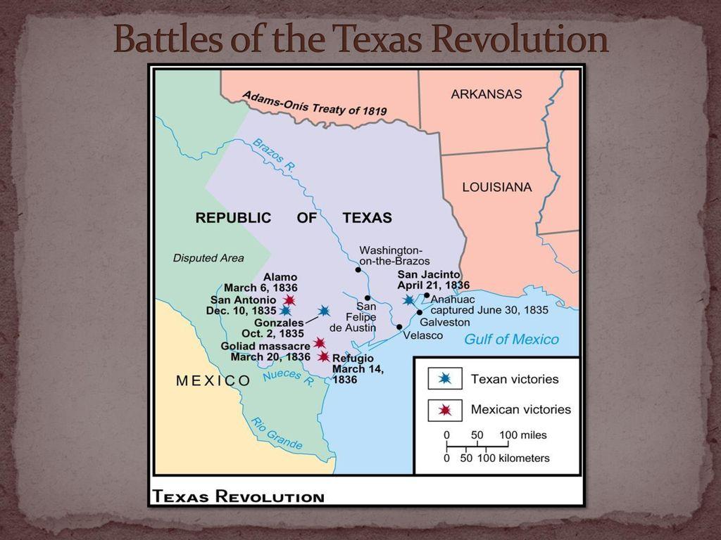 Map Of Texas Revolution.The Texas Revolution The Texas Revolution Ppt Download