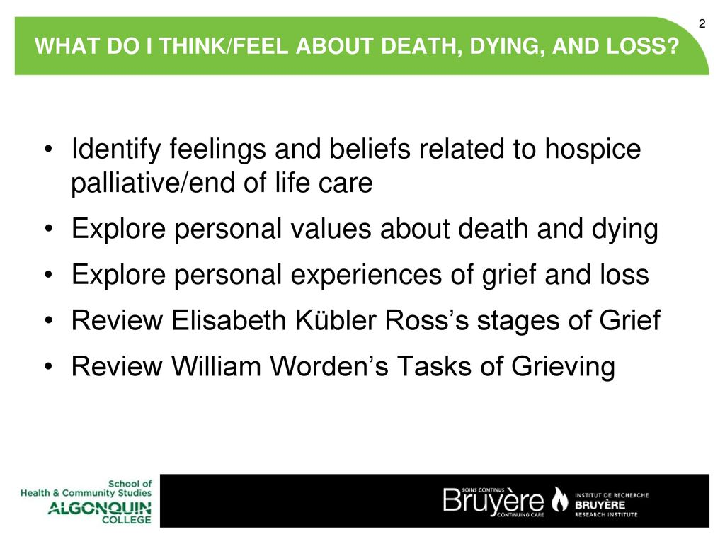 research on death and dying