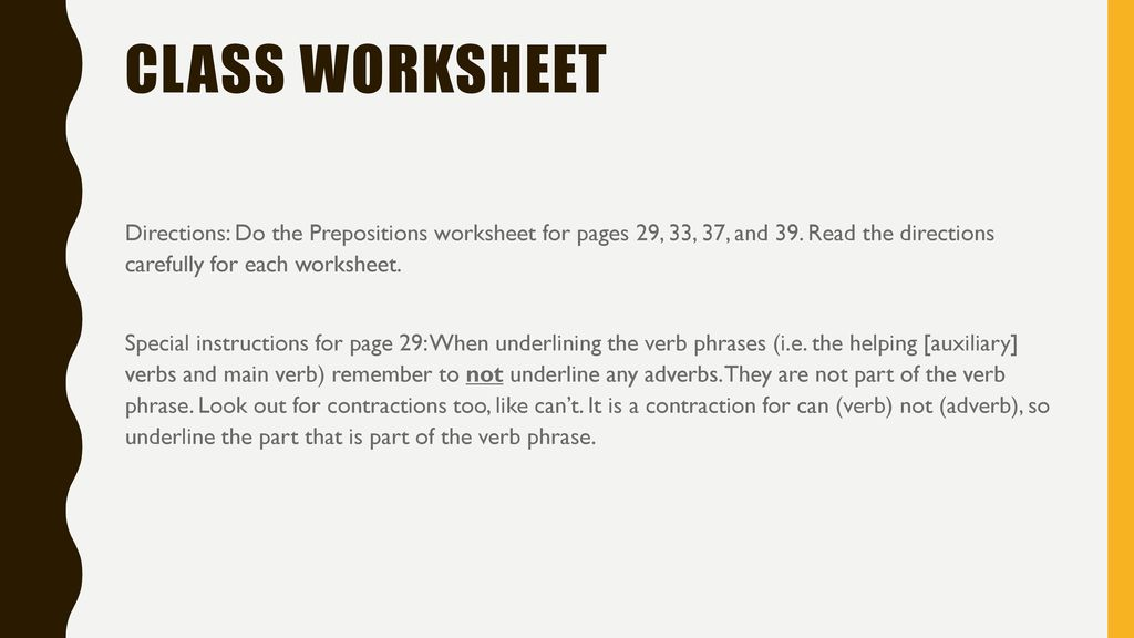 Part 3 Of Prepositional Phrases Ppt Download. Class Worksheet. Worksheet. Verb Phrases Worksheet At Clickcart.co
