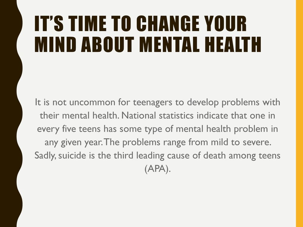 Teens health your mind