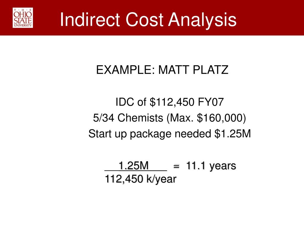 Indirect Cost Analysis
