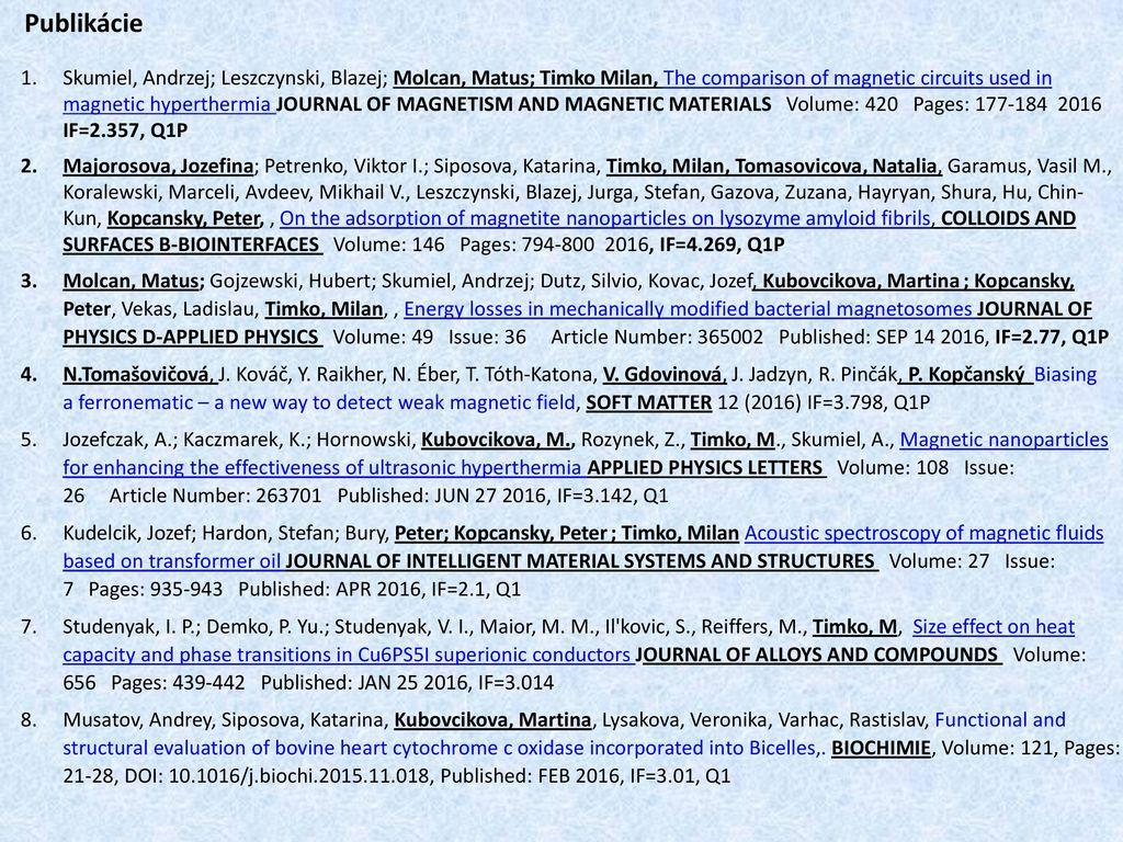 Prehľad činnosti OFMJ a dosiahnuté výsledky - ppt download