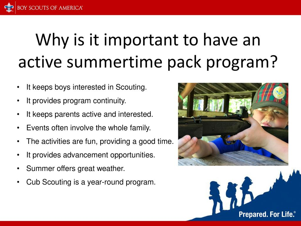 Cub Scout National Summertime Pack Award - ppt download