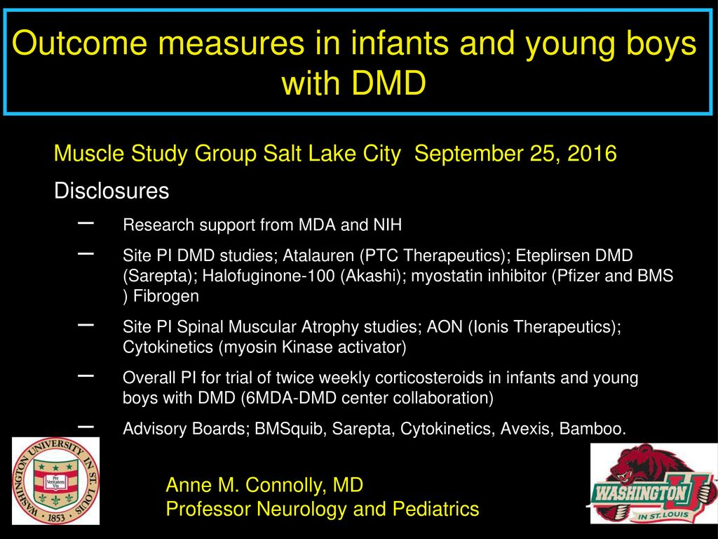 Outcome measures in infants and young boys with DMD - ppt