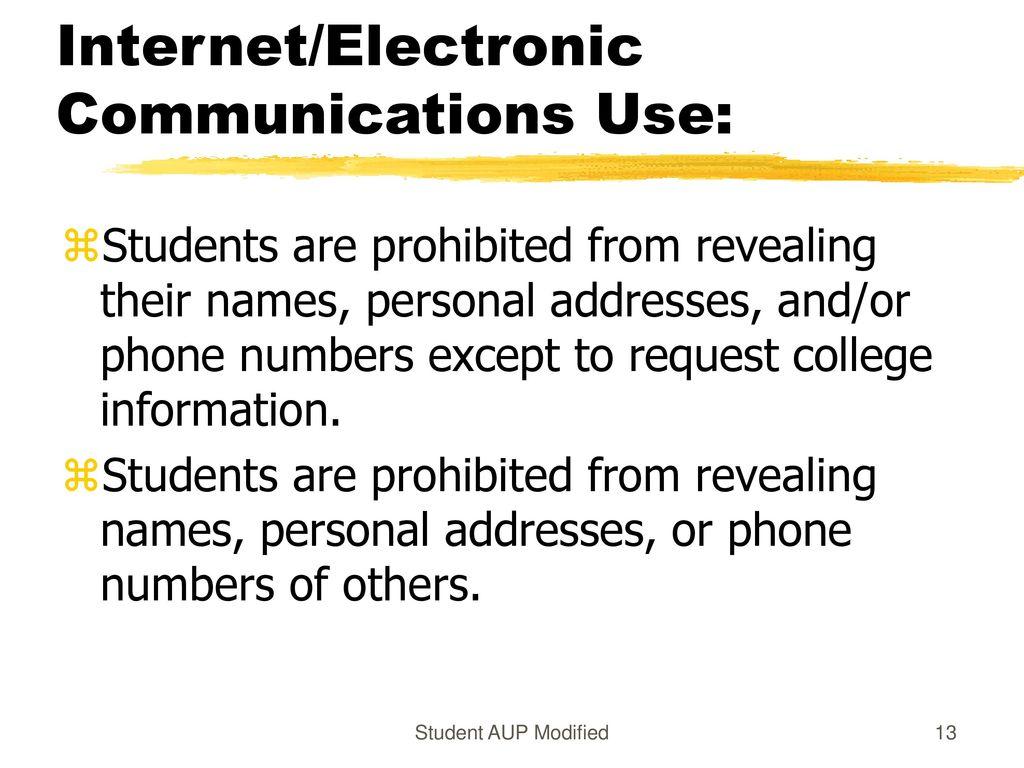 13 internetelectronic communications