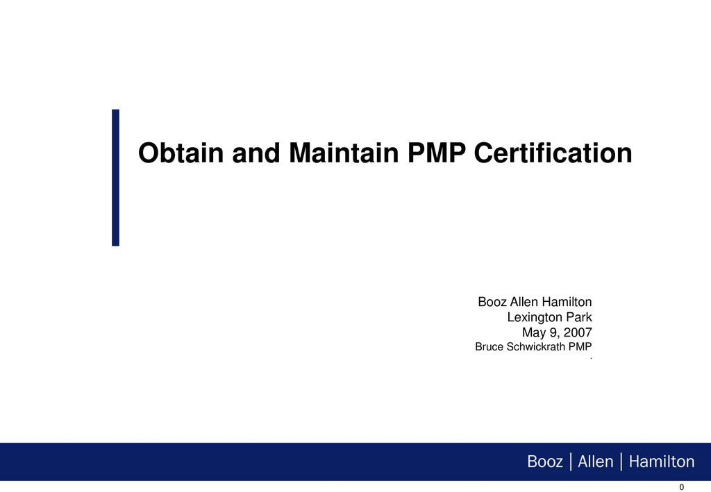 Obtain and Maintain PMP Certification - ppt download