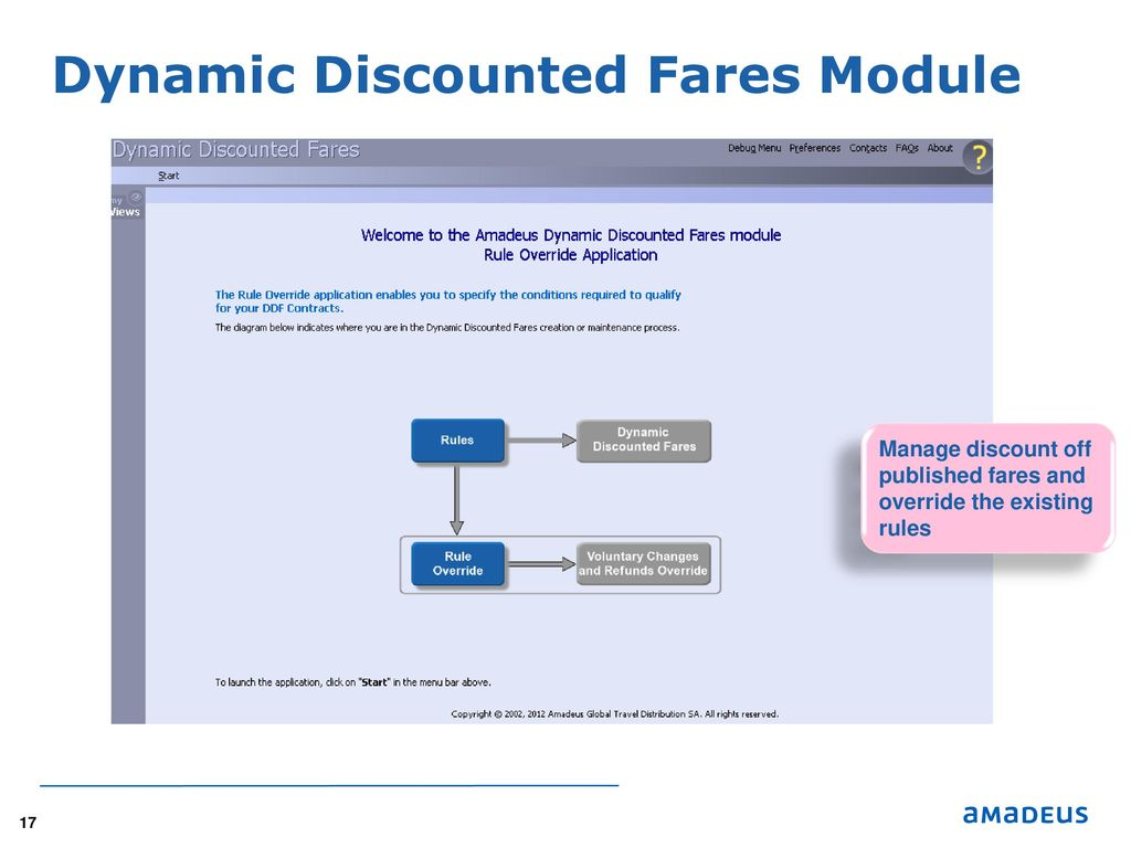 Amadeus Fare Filing Solution - ppt download