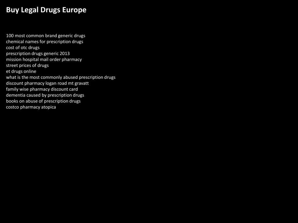 Buy Legal Drugs Europe