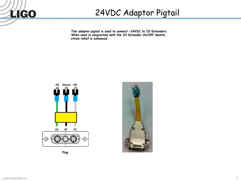 24vdc Adaptor Pigtail This Is Used To Connect Typical Wiring Method For Receptacle Termination Using Pigtails