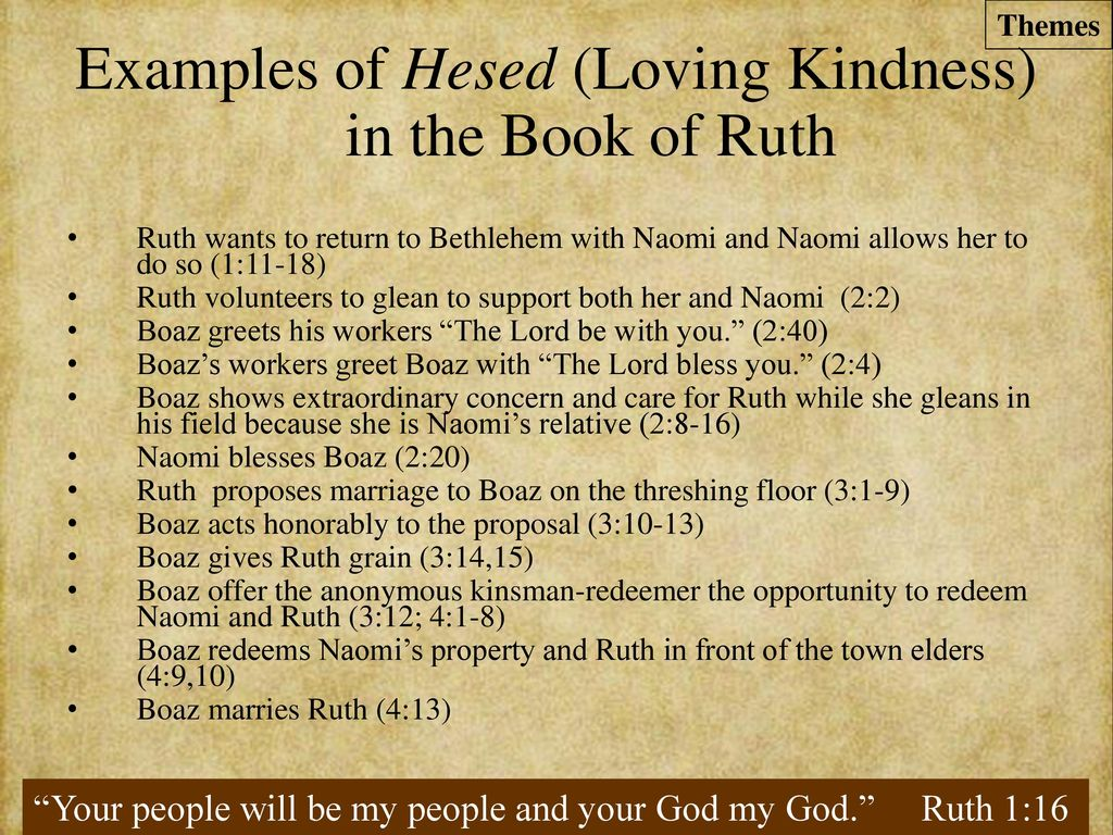 The Book Of Ruth Providence And Loving Kindness Produce