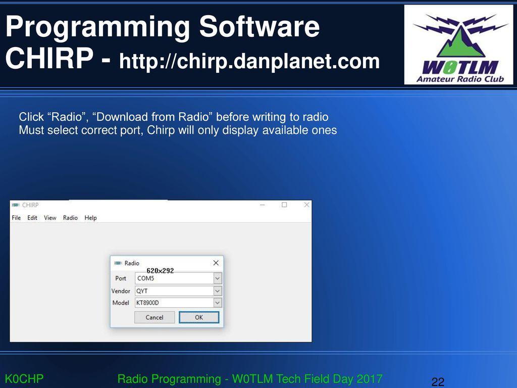 Chirp Radio Software